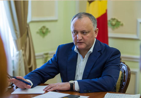 MOLDOVAN PRESIDENT STANDS FOR STRENGTHENING COUNTRY