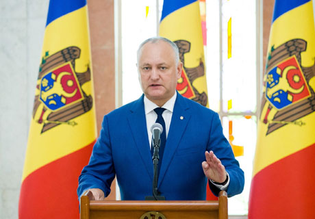 IGOR DODON STATES THAT THERE SHALL BE NO GOVERNMENT RESIGNATION BEFORE PRESIDENTIAL ELECTION