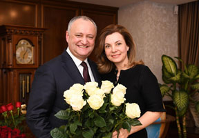PRESIDENT DODON RECEIVES UNUSUAL GIFTS ON HIS BIRTHDAY