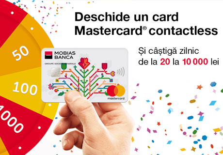 TAKE YOUR CHANCE WITH MASTERCARD® CONTACTLESS CARD AT MOBIASBANCA