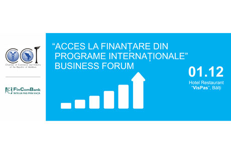 "THE 2ND EDITION OF THE FORUM ""ACCESS TO FINANCING FROM INTERNATIONAL PROGRAMS"" TAKES PLACE IN BALTI"
