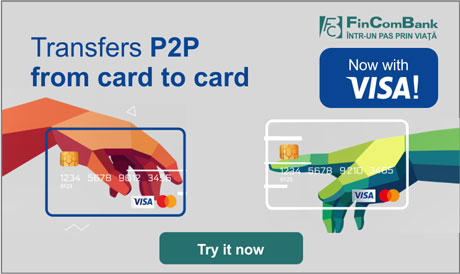 "THE ONLINE SERVICE ""CARD TO CARD TRANSFER"" FROM FINCOMBANK IS NOW AVAILABLE TO VISA CARDHOLDERS, TOO!"