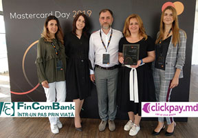 "FINCOMBANK S.A. WAS AWARDED BY MASTERCARD THE ""MONEYSEND BANK 2018"" DIPLOMA FOR PROMOTING INNOVATIVE TRANSFERS FROM CARD TO CARD (P2P)"