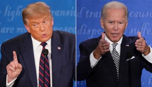 PRESIDENT DONALD TRUMP TURNED HIS FIRST DEBATE WITH DEMOCRATIC RIVAL JOE BIDEN INTO A CHAOTIC DISASTER